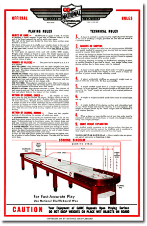 National Shuffleboard Poster